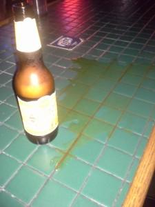 spilt beer